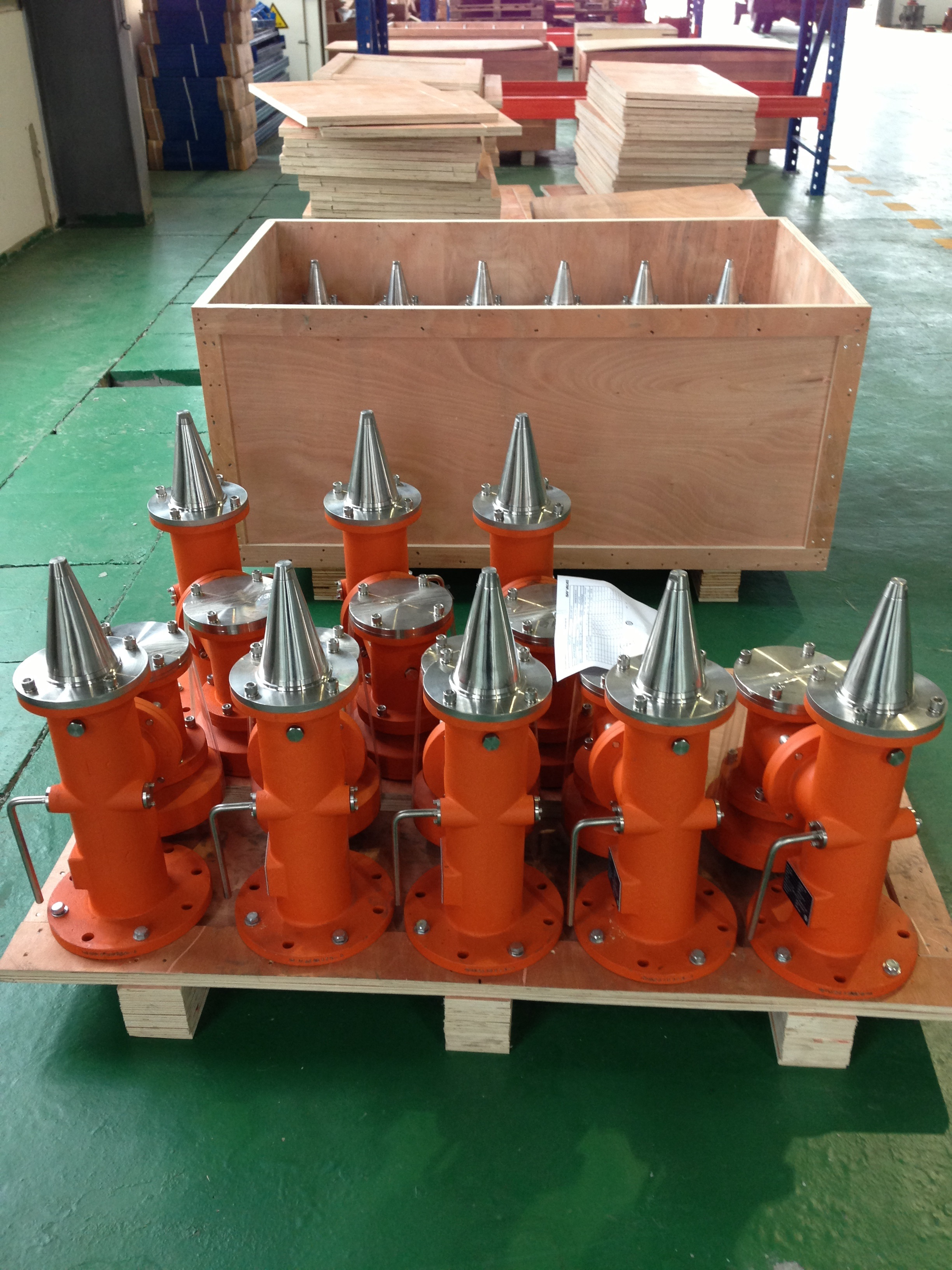 Products Valves in signature colour